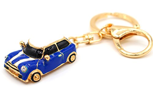 VmG-Store Mini Auto Cooper Blau Schlüsselanhänger