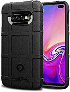 Samsung Galaxy S10 Plus Black anti Shock Rugged Shield TPU case Cover