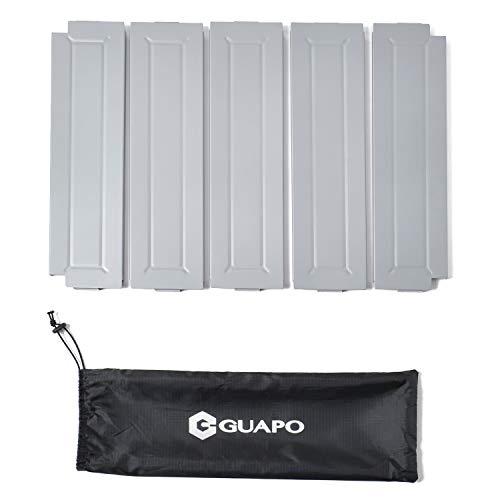 【GUAPO 折りたたみ キャンプテーブル 用】連結用天板 5枚セット 高強度アルミ製 収納ケース付き