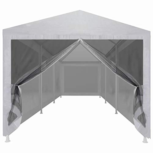 Ausla 9x3M Outdoor Event Shelter Party Tent Commercial Gazebo Heavy Duty Waterproof UV Resistant with 8 Mesh Sidewalls, 9 x 3 x 2.55 m