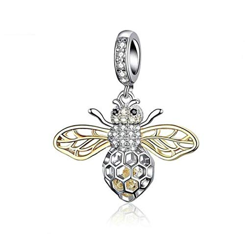 Animal Charms Sterling Pendant Bracelets Animal Sterling Pendant Ladybug Charms Necklace Animal Sterling Pendant for Women Girls Gifts Fine Jewelry
