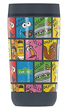 Sesame Street Character Named Blocks GUARDIAN COLLECTION BY THERMOS Stainless Steel Travel Tumbler Vacuum insulated & Double Wall 12oz