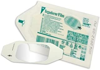 "3M Health Care 1624W Tegaderm Film Dressing, Frame Style, 2.75"" Length x 2.375"" Width, Transparent (Pack of 100)"