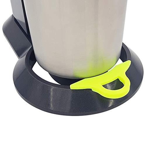 MaJoCompTec EASYHELP Clip kompatibel mit SodaStream Crystal 2.0   Wassersprudler Tropfschutz Zubehör   reduziert Verschmutzung durch tropfendes Wasser   Soda Stream Kit (Neon Gelb, Crystal 2.0)