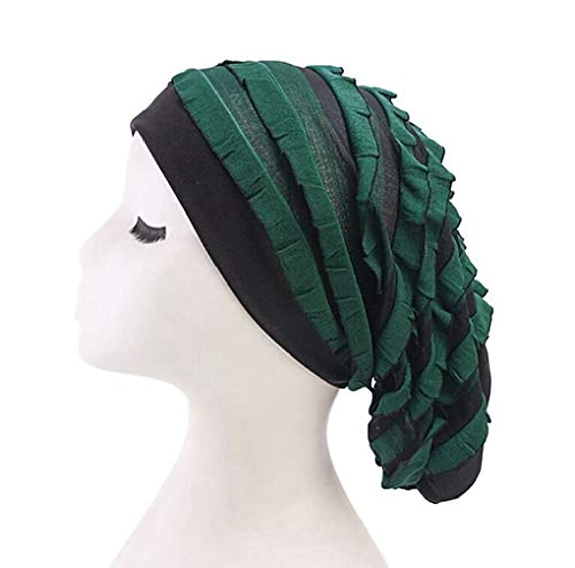 Women's Nightcap Broadband Stripe Sleep Cap Hat for Curly Natural Hair Curly Hair Loss