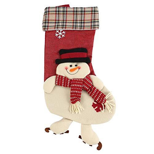 Grote Kerst Kousen Geschenken Doek Santa Elk Sokken Xmas Mooie Gift Bag Voor Kinderen Open Haard Boom Nieuwjaar Gift Candy Tassen