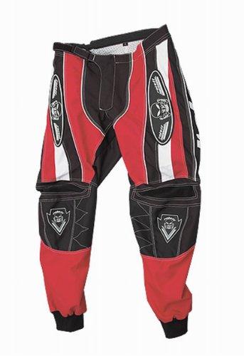 Roleff Racewear Pantalón Motocross, Negro/Rojo, XXL