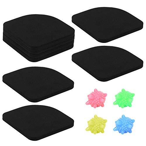 GLAITC 8 Pezzi Tappetino Antivibrazione, Antivibrazione Lavatrice Tappeto Antiscivolo Universale Pad Anti-Shock Mat tappetini ammortizzanti di Protezione per Lavatrice Asciugatrice Frigorifero