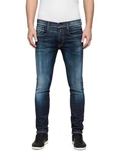 Replay Herren Anbass Slim Jeans, Blau 009, 36W / 30L