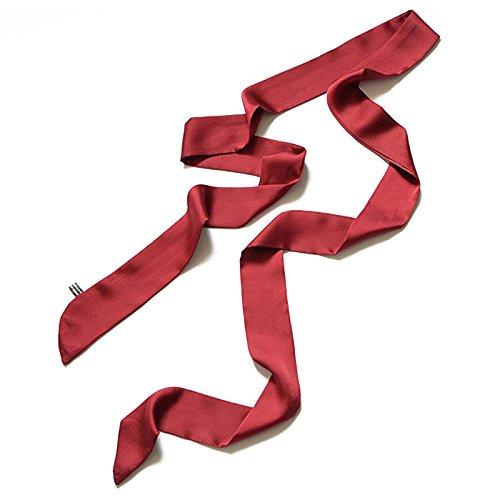 pinz toucher warzer Femme Skinny écharpe en mousseline Extra Longue dünner fixe ceinture de ceinture fine Cravate Collier