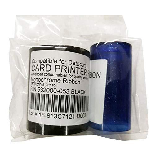 532000-053 Schwarzes Farbband für Datacard SP35 SP35 Plus SP55 SP55 Plus SP75 SP75 Plus Kartendrucker 532000-053 Schwarzweiß-Farbband mit 1500 Bildern kompatibel