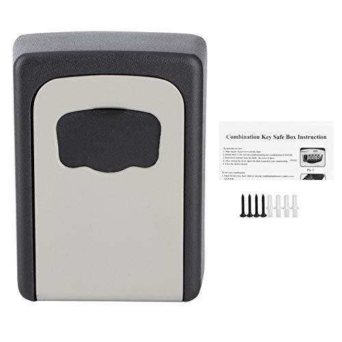 RBSD Caja de Bloqueo de contraseña, Caja Fuerte para Llaves montada en la Pared, Resistente aleación de Aluminio de Gran Capacidad Durable para Puertas de Almacenamiento de Llaves Tarjetas de