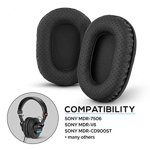 Brainwavz - Almohadillas de plisado perforadas para Sony MDR-7506, MDR-V6, MDR-CD900ST con espuma de memoria