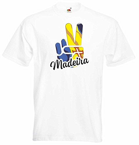 Black Dragon - T-Shirt Herren - JDM/Die Cut - weiß - Flagge/Fahne - Madeira - Victory - Sieg - S - Fussball Sport Boxen Fight