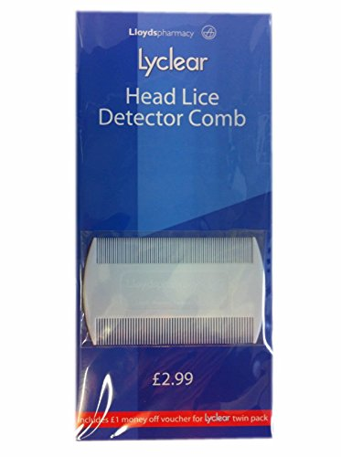 Lyclear Head Lice Detector Comb - Double Sided Nit Brush for Kids Pet Fleas