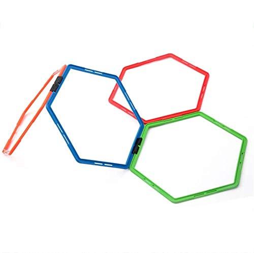 XINGDONG Anillo de entrenamiento hexagonal de velocidad y agilidad de 50,8 cm, juego de escalera hexagonal ABS, mejora tu velocidad en el entrenamiento de moda deportiva