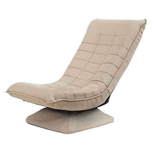 Mentaal Bodenstuhl Klappbar Bodensessel um 360 Grad drehbar 3 Positionen verstellbar Liegestuhl Faules Sofa mit Basis Relaxliege für Zuhause Büro Wohnzimmer Arbeitszimmer,Khaki