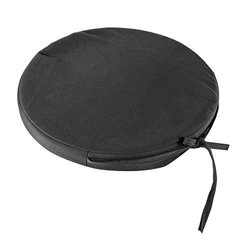 New_Soul Coussin Chaise Rond 36cm Confortable imperméable,Galettes Fauteuils Rotin Siège circulaires en Oxford, Coussin d'Assise Intérieur et Extérieur pour Bureau Salon Salle à Manger (Noir)