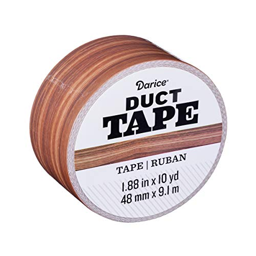 Darice Patterned Woodgrain, 1.88 Inches x 10 Yards Duct Tape, Multicolor