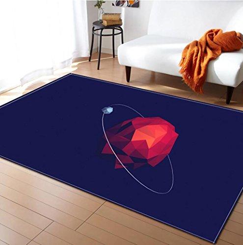 Creative Light- Tapis 3D MultiWare/Anti-Skid/Rectangulaire / Soft Pile Tapis Salon Chambre Étudier Cuisine Intérieure Mat Chevet Couverture (Couleur : #8, Taille : 120x160cm)