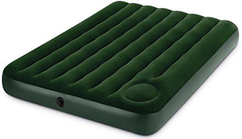 Intex Downy Luftbett - Full - 137 x 191 x 22 cm - Mit Fußpumpe - Grün