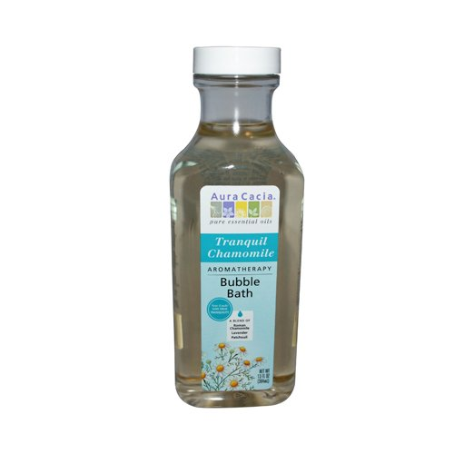 Aura Cacia Aromatherapy Bubble Bath, Tranquil Chamomile 13 oz (Pack of 6)
