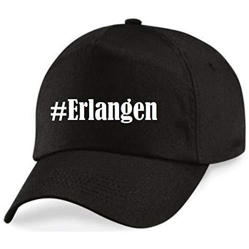 Reifen-Markt Base Cap Hashtag #Erlangen Größe Uni Farbe Schwarz Druck Weiss