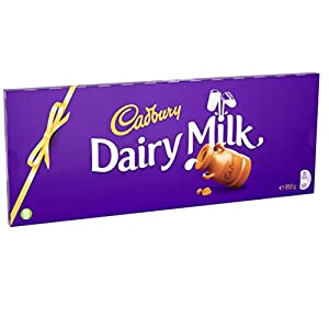 cadbury dairy milk giant chocolate bar, 850 g Cadbury Dairy Milk Chocolate Bar, 850 g 41s9m74y7fL