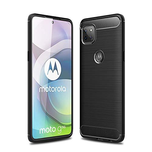 TingYR Cover per Motorola Moto G 5G, Ultra Sottile di Gomma, Ottima Cover Antiurto TPU Flessibile, Custodia Case per Motorola Moto G 5G Smartphone.(Nero)
