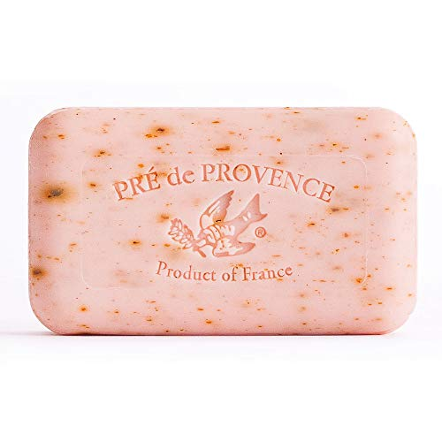 Pre de Provence Artisanal French Soap Bar Enriched with Shea Butter, Rose Petal, 150 Gram