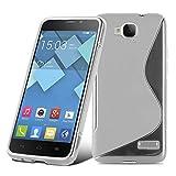 Cadorabo Coque pour Alcatel One Touch Idol S en Semi Transparent - Housse Protection Souple en Silicone TPU avec Anti-Choc et...