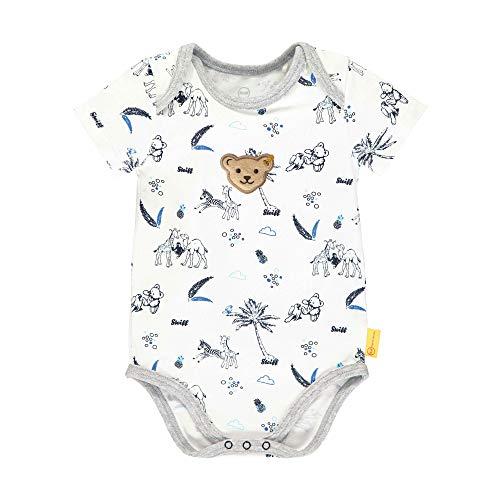 Steiff Baby-Jungen Formender Body, Weiß (Bright White 1000), 86 (Herstellergröße: 086)