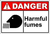 金属ティンサイン壁の装飾有害なフューム危険2998ヴィンテージティンウォールサインレトロアート鉄絵画金属警告プラーク装飾用ホームヤードストアバーコーヒーハウス