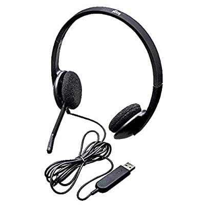 Logitech H340 Wired Headset, Stereo Headphones with Noise-Cancelling Microphone, USB, PC/Mac/Laptop - Black by Logitech