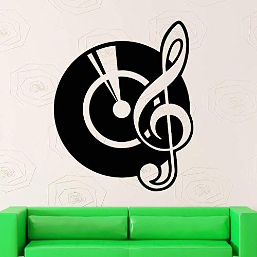 Muursticker vinyl sticker vinyl platen muzieknoten Dj Cool Room Decor 57X70Cm
