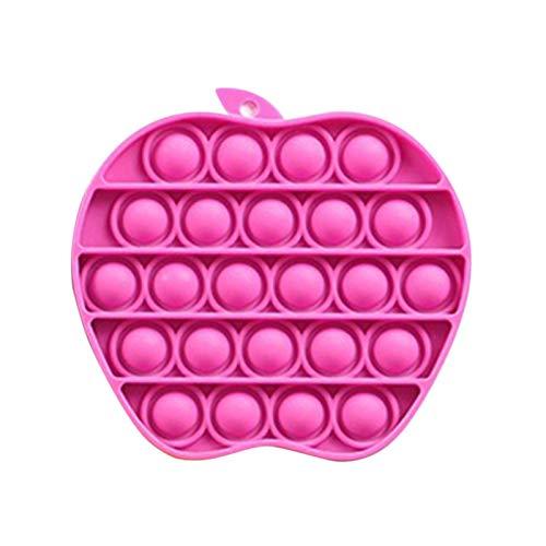 Popit Bubble Sensory Fidget Toy, Giocattoli sensoriali di Forma Unica-Apple, Autismo con bisogni Speciali Antistress Giocattoli per alleviare l'ansia, Estrusione Bubble Fidget Giocattolo sensoriale