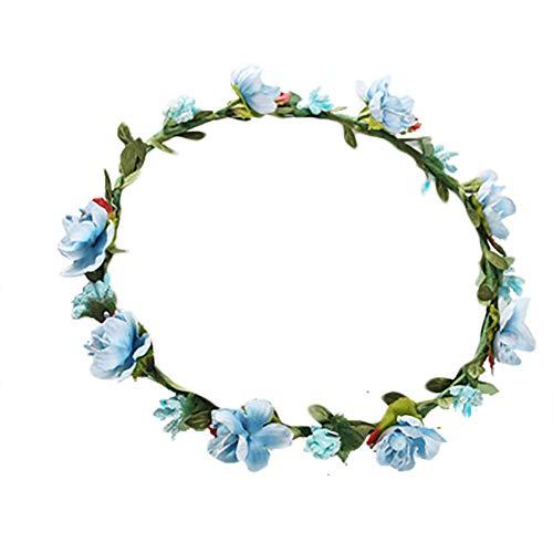 Namgiy Chapeau de mariée décoratif pour Cheveux 18 cm, Bleu, 18 cm