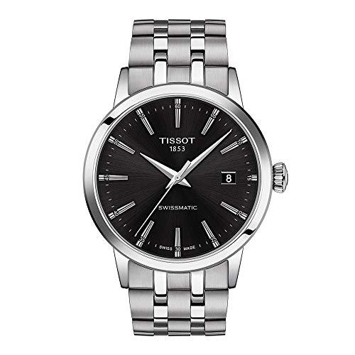 Tissot Herren-Uhren Analog Automatik One Size Schwarz Edelstahl 32015373