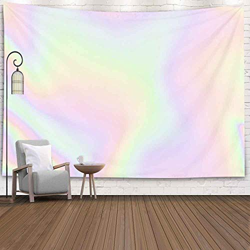 Jesmacti Tapestry for Wall Hanging,80X60 Inch Tie Dye Tapestry Wall Hanging Blurry Abstract Pastel Iridescent Holographic Foil Background Wall Hanging Tapestry for Bedroom,Colorful Tapestry