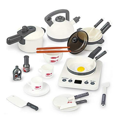 HJX888 Utensilios de Cocina para niños Juguetes,Utensilios de Cocina,Utensilios de Cocina Juego de sartenes para niños