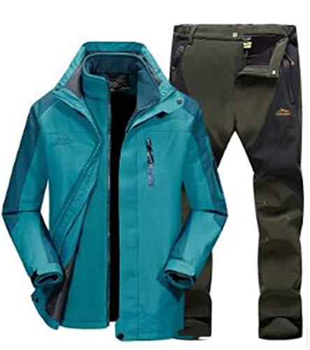 SR-Keistog Hombres Invierno Pantalones y Chaquetas Impermeables Mujeres Trajes de esquí...