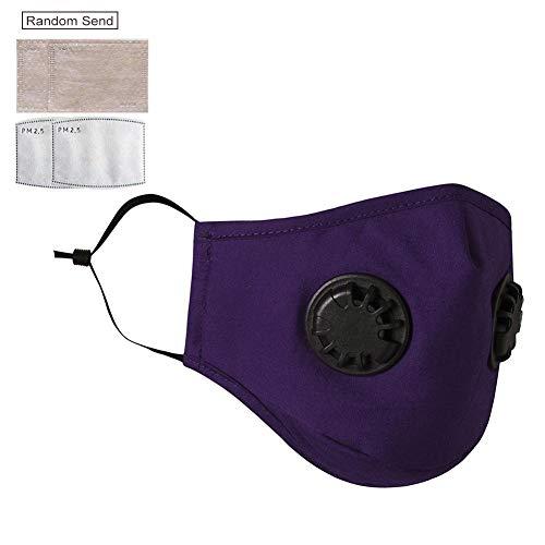 Gesichtsschutz Wiederverwendbarer waschbarer Gesichtsschutz gegen Luftverschmutzung Satety Dust Shield mit wiederverwendbarem Doppelventil-Gesichtsschutz gegen Staubfilter