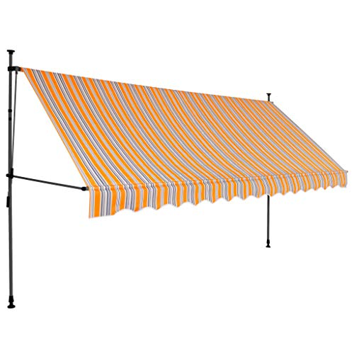 Lasamot Toldo retráctil Manual, toldo retráctil Manual técnico con LED 400 cm...