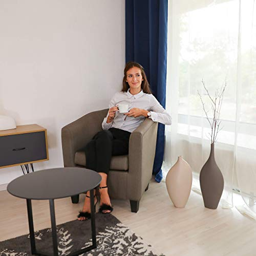 Relaxdays, braun Retro Sessel, bequemes Sitzpolster, charmantes Vintage-Design, Stoffbezug, zum Relaxen, HBT: 77x70x74cm, Standard
