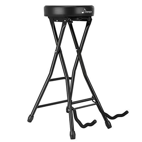 Donner High-Density Sponges Guitar Seat, Foot Stool Guitar with Guitar Holder for Acoustic And Electric Guitars