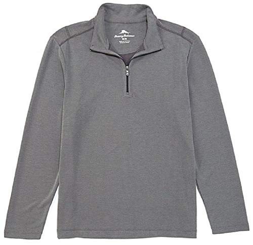 Tommy Bahama Via Del Sands Half Zip Pullover (Color: Coal, Size XXL)