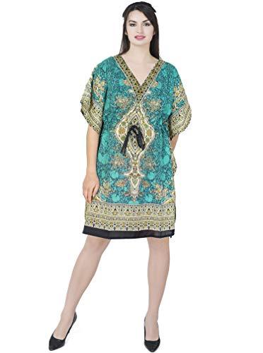 SKAVIJ Mujers Kaftan Bata de Noche sayo Kimono Estilo Vestir Playa Cubrir Arriba Más tamaño