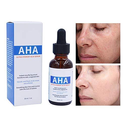 AHA Serum Whitening Smooth Remove Dark Spot Shrinking Pores Brightening Skin Facial Serum