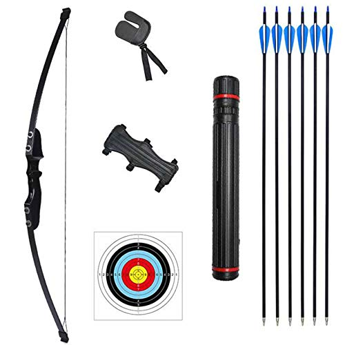 Rootmemory Archery Recurve Bow and Arrows Set for Adults 30 40 lbs with Quiver Target Faces Arm Guard Finger Saver,Takedown Longbow Kit for Outdoor Hunting Training Practice Toy Right Hand