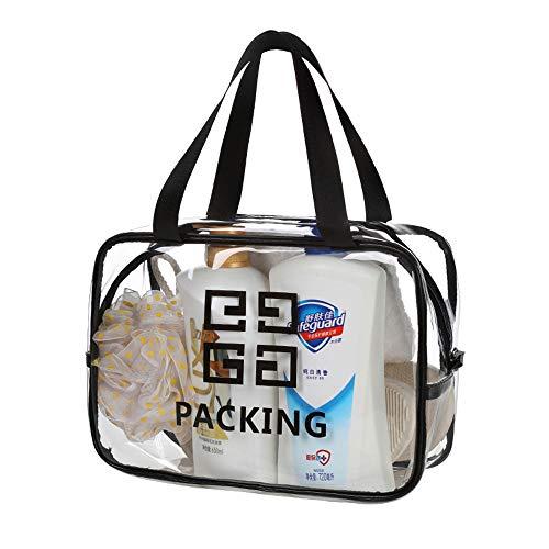 Threew Trasparente in pvc in vinile con cerniera bagaglio Toeletta in viaggio con custodia cosmetica borsa da trucco Sacchetto trasparente in multifunzionale comoda custodia impermeabile in custodia p